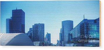 Business Skyscrapers  Paris France Wood Print by Michal Bednarek