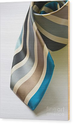 Business Tie Wood Print by Tim Hester