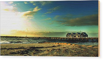 Wood Print featuring the photograph Busselton Jetty by Yew Kwang