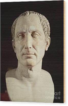 Bust Of Julius Caesar Wood Print by Anonymous