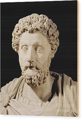 Bust Of Marcus Aurelius Wood Print by Anonymous