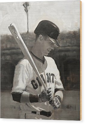Buster Posey - Quiet Leader Wood Print by Darren Kerr