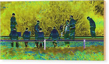 Busy Doing Nothing Wood Print by Sharon Lisa Clarke