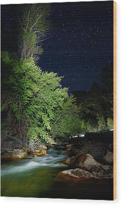 Wood Print featuring the photograph Busy Night by David Andersen