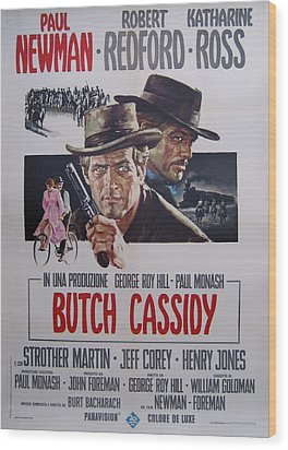 Butch Cassidy And The Sundance Kid Wood Print by Georgia Fowler