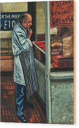 Butchers Profit Wood Print by Peter Jackson