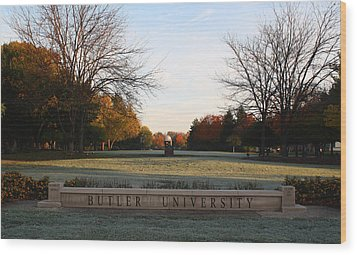 Butler University Mall Wood Print by Dan McCafferty