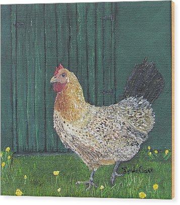 Buttercup Betty Wood Print
