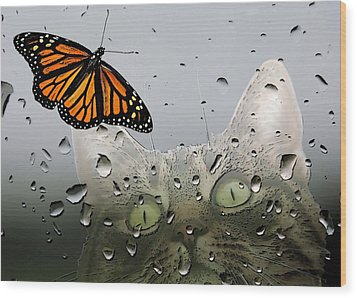Butterflies Are Free Wood Print by I'ina Van Lawick