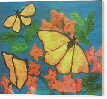 Butterflies Wood Print by Christy Saunders Church