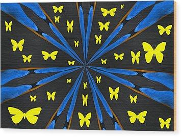 Butterflies Galore Wood Print by Karol Livote
