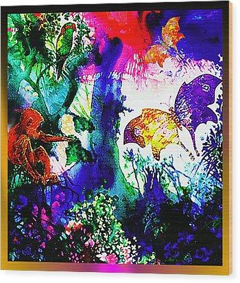 Butterflies Wood Print by Hartmut Jager