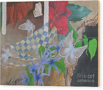 Butterflies In The Breeze Wood Print by Richard Dotson