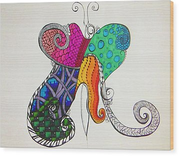 Butterflies Wood Print by Lori Thompson