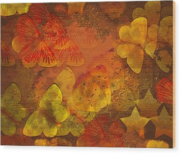 Butterfly Abstract 2 Wood Print by David Dehner