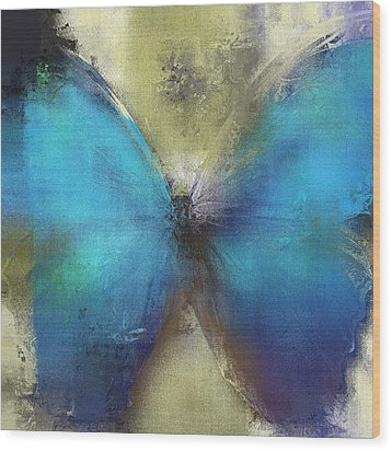 Butterfly Art - Ab0101a Wood Print by Variance Collections