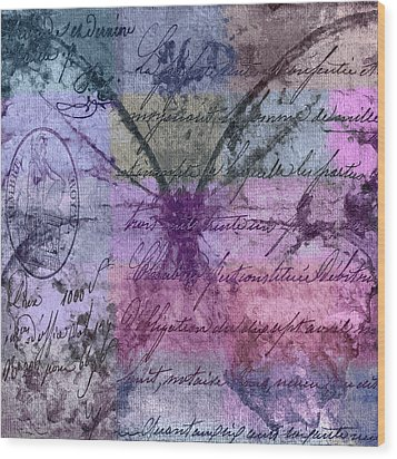 Butterfly Art - Ab25a Wood Print by Variance Collections
