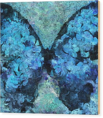 Butterfly Art - D11bl02t1c Wood Print by Variance Collections