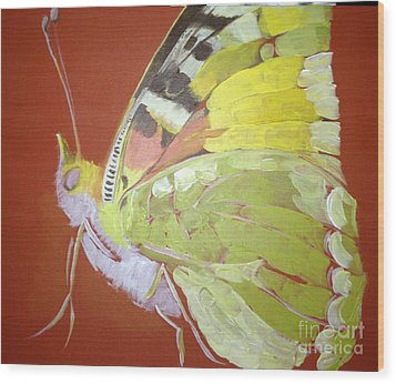Butterfly Basic In Work Wood Print