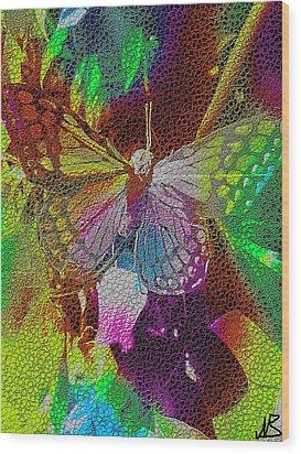 Butterfly By Nico Bielow Wood Print