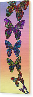 Wood Print featuring the photograph Butterfly Collage IIII by Robert Meanor