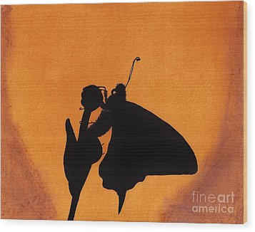 Wood Print featuring the drawing Butterfly by D Hackett