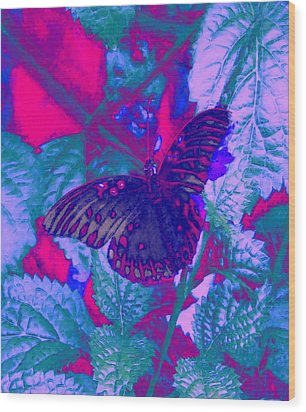 Wood Print featuring the painting Butterfly  by David Mckinney