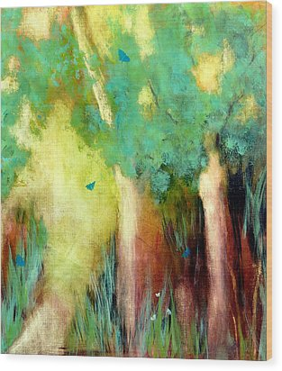 Wood Print featuring the painting Butterfly Days by Katie Black