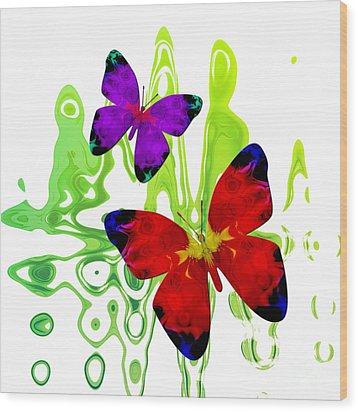 Butterfly Duet - Harmony Wood Print