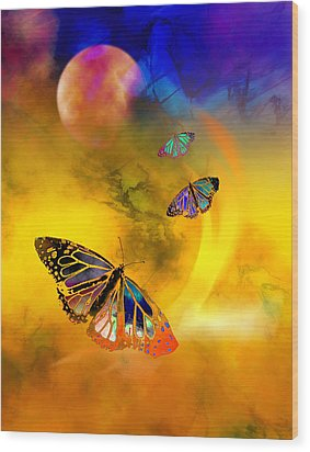 Butterfly Expansion Wood Print by Bruce Manaka