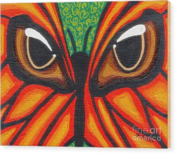 Butterfly Eyes Wood Print by Genevieve Esson