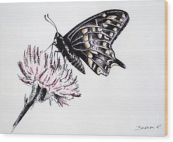Butterfly Wood Print by Katharina Filus