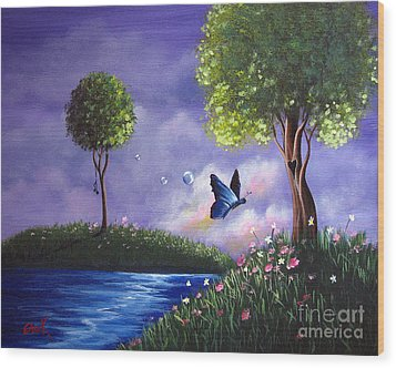 Butterfly Lake By Shawna Erback Wood Print by Shawna Erback