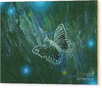 Butterfly Magic By Jrr Wood Print
