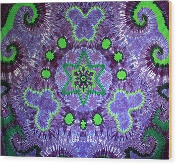 Butterfly Mandala Wood Print by Carl McClellan