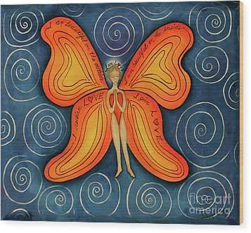 Butterfly Mantra Wood Print