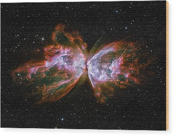 Butterfly Nebula Ngc6302 Wood Print by Adam Romanowicz