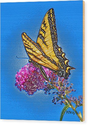 Butterfly Wood Print by Patrick Witz