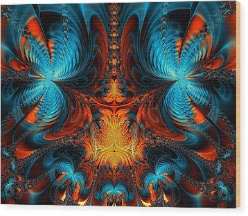 Butterfly Plasma  Wood Print by Ian Mitchell