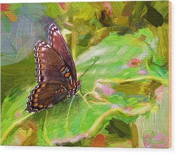 Butterfly - Red-spotted Purple Wood Print