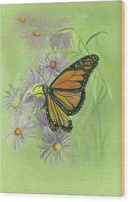 Butterfly Wood Print by Ruth Seal