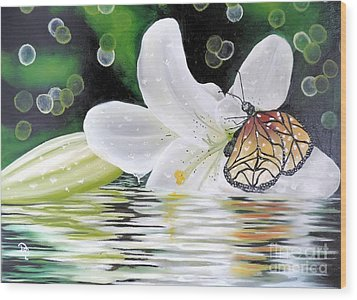 Butterfly Series Seven Wood Print