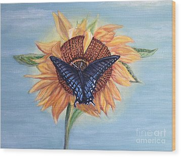 Butterfly Sunday In The Summer Wood Print by Kimberlee Baxter