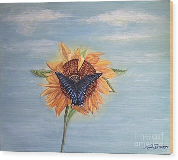 Butterfly Sunday Full Length Version Wood Print by Kimberlee Baxter