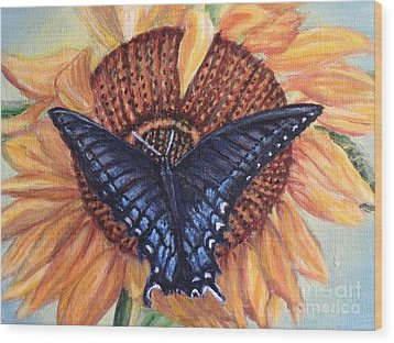 Butterfly Sunday Up-close Wood Print by Kimberlee Baxter