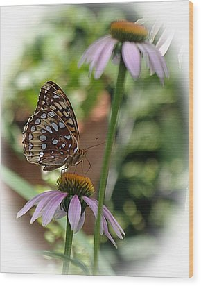 Butterfly Time Wood Print
