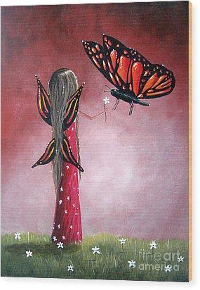 Butterfly Whisperer By Shawna Erback Wood Print by Shawna Erback