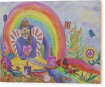 Butterfly Woman Healer I Am Wood Print by Ellen Levinson
