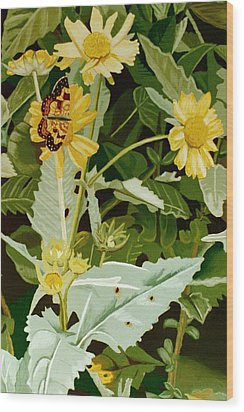 Butterfly Yellow  Wood Print by Tanya Provines