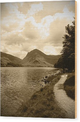 Buttermere Bright Sky Wood Print